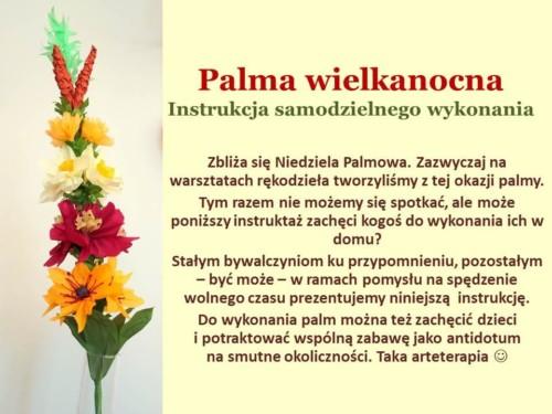 Palma wielkanocna - przepis z Wypożyczalni 46